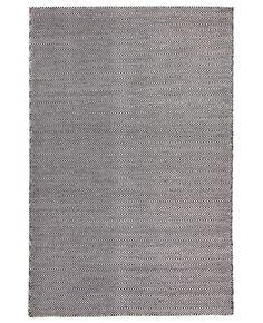 Gammelstad Black Herringbone Wool Flatweave Rug
