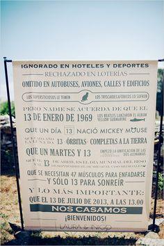 wedding sign in Spanish