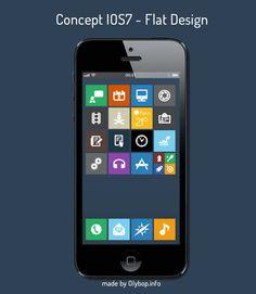 iOS7 Concept – Flat Design