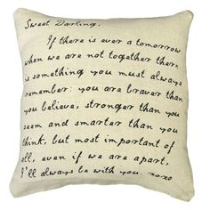 Sugarboo Designs Sweet Darling Throw Pillow | Pure Home #love