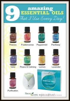 9 Essential Oils I Use Every Day https://www.youngliving.com/signup/?sponsorid=1723616&enrollerid=1723616