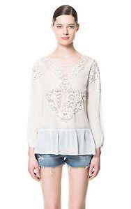 Zara Embroidered Top 7521 043 New | eBay