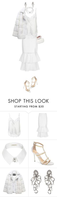 """""""Shades of White"""" by celeste-menezes ❤ liked on Polyvore featuring Givenchy, Jonathan Simkhai, River Island, Jimmy Choo, Lilly e Violetta, Saqqara and Alexander McQueen"""