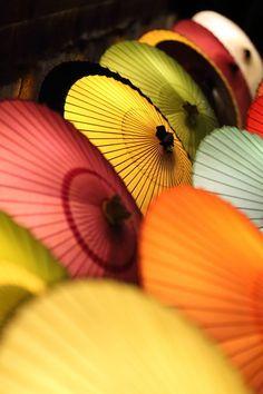 Japanese umbrellas, Wagasa 和傘