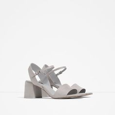 Image 2 of BLOCK HEEL SANDALS WITH ANKLE STRAP from Zara