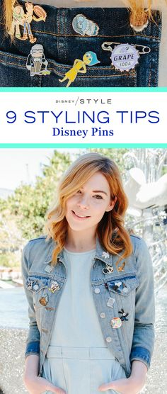9 tips for styling your Disney Pins. We have inspiration for taking your pins from your lanyard to your outfit. | [ http://blogs.disney.com/disney-style/fashion/2016/02/13/styling-your-disney-pins/ ]