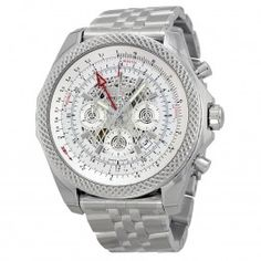 Breitling Bentley B04 GMT Chronograph Silver Dial Stainless Steel Mens Watch AB043112-G774SS