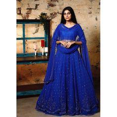"SINDHU REDDY DESIGN HOUSE® ️ on Instagram: ""It's always royal in blue.. 💙 Location : @themayabazar 📷 : @anuragkamilla In frame : @andleeb_zaidi . . . #lehenga #weddingseason…"" Manish Malhotra, Lehenga Designs, Sabyasachi, Wedding Season, Bridesmaid, House Design, India, Formal Dresses, Frame"