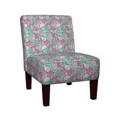 Maran Slipper Chair featuring Paisley Tile (Pink) by catherine_digman | Roostery Home Decor