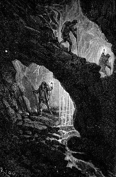 Voyage au centre de la terre - 56 illustrations de l'édition originale.