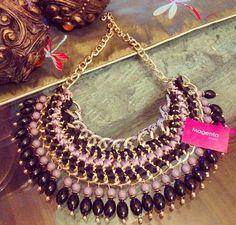Magenta statement necklaces!