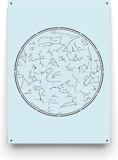 Minimalistische Tuinposter van Made on Friday met het sterrenstelsel van de twaalf verschillende sterrenbeelden! Writing, Stars, Star, A Letter, Writing Process