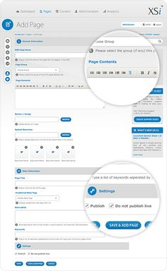 Content Management System by Waseem Arshad, via Behance