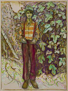 Billy Childish boy and fig tree, 2013 Öl und Kohle auf Leinen 244 x 183 cm © Billy Childish, Carl Freedman London, Lehmann Maupin New York, neugerriemschneider Berlin