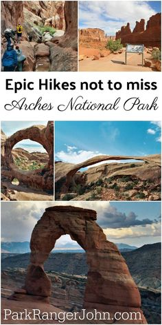 Epic Hikes not to miss when visiting Arches National Park in Utah Check these amazing hikes off your bucket lists From epic adventure hikes to easy strolls you do not wan. Arches National Park Hikes, Nationalparks Usa, Places To Travel, Places To Visit, Utah Vacation, Delicate Arch, Las Vegas, Destinations, Us National Parks