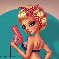 Love this Rockabilly Cartoons…. Pin Up Tattoos, Time Tattoos, Cartoon Hair, Girl Cartoon, Hairstylist Tattoos, Image Deco, Miss Fluff, Salon Art, Fashion Artwork