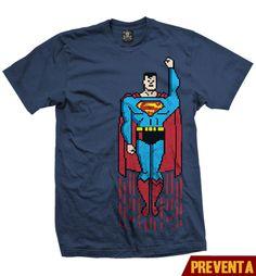 """""""Playera Superman Pixel """"  Vatos  disponible en www.kingmonster.com.mx"""