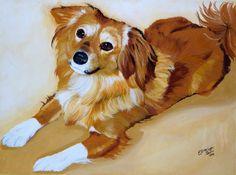 DOG PORTRAIT  portrait of your dog by PerlillaPets