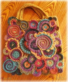Freeform crochet scrumble patterns freeform crochet is a way of making a series of motifs created – Best Yarn Crafts Afghans Blankets and Rugs Images On – Free Crochet Patterns and Knitting PatternsThis Pin was discovered by Dee Puff Stitch Crochet, Bag Crochet, Crochet Buttons, Freeform Crochet, Crochet Art, Crochet Purses, Love Crochet, Irish Crochet, Crochet Flowers