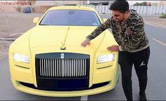 Dubai's rich kid Rashid gave this Ferrari car to his friend Movlogs