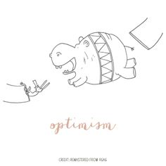Optimism // Illustration by Mayi Carles // Remastered from 9Gag