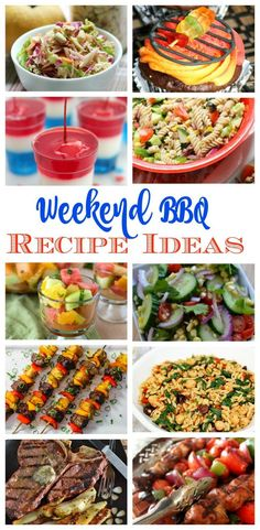Weekend Barbecue Recipe Ideas - recipes for the perfect, memorable BBQ.    #bbq #recipes #recipeideas #simplerecipes #barbecue #recipe #grill #grilling