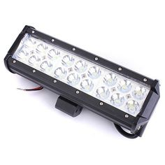 54W 18LEDs Car Work Light Bar Spotlight White Projector Lamp. 54w 18leds Car Work Light Bar Spotlight White Projector Lamp Driving Boat 9 Inch    specification:    dimension: 23cm X 8cm X 6.5cm (9'' X 3.15'' X 2.56'')  wire Length: Approx 32cm(12.6'')  material: Black Diecast Aluminum Housing  mounting Bracket: Alu Firm Bracket (included)  operationg Voltage: Dc 9-32v  power: 54w  theoretical Lumens Output: 4320 Lm  operating Lumens Output: 3780 Lm  led Quantity: 18 Pcs  led Type: 3w High…