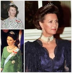 The Vifte Tiara: The tiara was inherited by Maud's grandson King Harald, and has been worn by his wife Queen Sonja (who started using it during her years as crown princess).