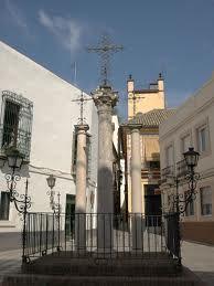 Plaza en la calle de las Cruces, de Sevilla.