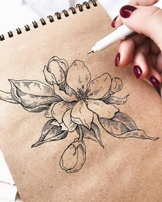 Flower... #BotanicalTattoos #FlowerSketches #FlowerTattooIdeas