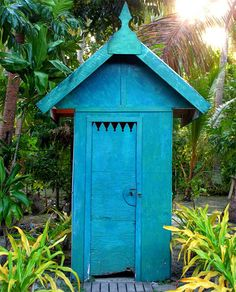 outhouse architecture - if it's blue...