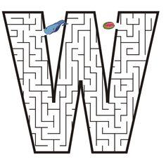 Atividade de alfabetização: alfabeto com as letras em labirinto - Alfabetos Lindos