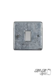 Finally! Electrical accessories in a galvanised finish. These plates are galvanised locally then assembled and testedusing Crabtree inserts. 10Amp 1-gang 2-way switch. Comes with 3.5mm nickel plated socket screws. Fits standard UK socket boxes Also available withblack inserts                 Please be aware these are a heavy galvanised finish, the finish, texture and shade will vary slightly between each item.
