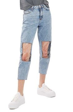 Nordstrom's latest tough sell comes in the form of Clear Knee Mom Jeans, aka denim with plastic peep holes for your patellas. (March 2017)
