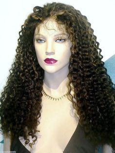 Remy Glueless Full Lace Wig Indian Human Hair by BizarreJewels