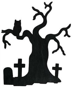 halloween tree silhouette - Google Search
