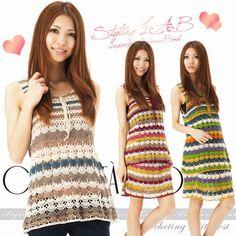 Crochetemoda: Túnica e Vestido de Crochet