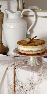 Мой вкусный мир: Яблочный торт с карамельным Баварским муссом с корицей