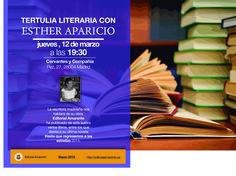 Tertulia literaria con Esther Aparicio en Cervantes y Cía