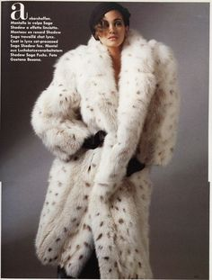 fur fashion directory is a online fur fashion magazine with links and resources related to furs and fashion. furfashionguide is the largest fur fashion directory online, with links to fur fashion shop stores, fur coat market and fur jacket sale. Lynx, Fur Fashion, Fashion Photo, Fox Fur Coat, Fur Coats, Fabulous Furs, Vintage Fur, Vintage Leather, White Fur