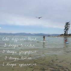 """Lake Diffuser Blend. So uplifting and refreshing, this blend is great for creating a feeling of sunshine, relaxation, and adventure!! Use it whenever you need a pick-me-up or when the weather isn't wonderful to bring summer inside. Shop at www.mydoterra.com/robinpenney and click """"Join and Save"""" for discounted essential oils."""