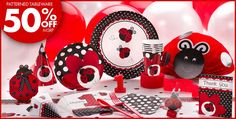 Fancy Ladybug 1st Birthday Party Supplies