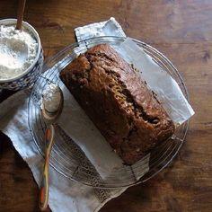 Cinnamon toffee banana breakfast bread.