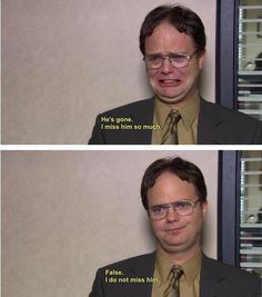 omg lol I so thought he missed him that time :D The office, dwight! Dwight Quotes, Film Quotes, Dwight Schrute Quotes, The Office Quotes Dwight, Funny Office Quotes, Office Jokes, The Office Show, Office Wallpaper, Stupid Memes