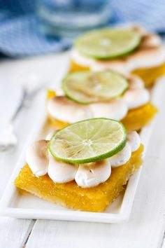 Key Lime Pie Meringue Bars have a beautiful meringue right on top ...