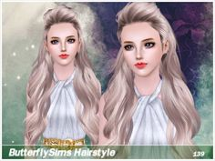 Hairstyle 139 by Butterfly Sims - Sims 3 Hairs Sims 3 Mods, Sims 1, Sims 3 Games, The Sims 4 Cabelos, Free Sims, Sims Hair, Sims Resource, Dress Up Dolls, Fall Hair