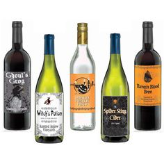 Wine Bottle Labels (5 count) from Buycostumes.com