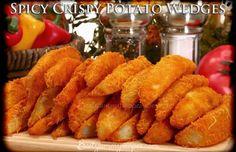 Spicy Crispy Potato Wedges – Food Recipes Do with sweet potatoes Veggie Recipes, Great Recipes, Cooking Recipes, Favorite Recipes, Potato Recipes, Potato Ideas, Delicious Recipes, Cooking Tips, Vegetarian Recipes