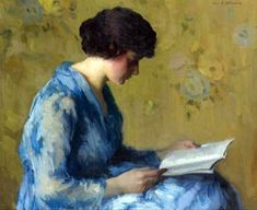 A Woman Reading by Ivan Olinsky.