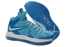 Nike Air Max LeBron James 10(X) Elite Ice Blue-White (Mens)